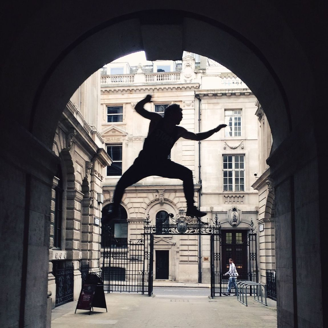 // Spring into action // London Candid Parkour Silhouette