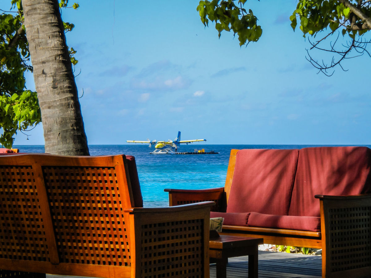 Beach Lifestyles Maledives Plane Relaxing Relaxing Moments Sand Sea Tropical Vacation Vacations Water Waterplane