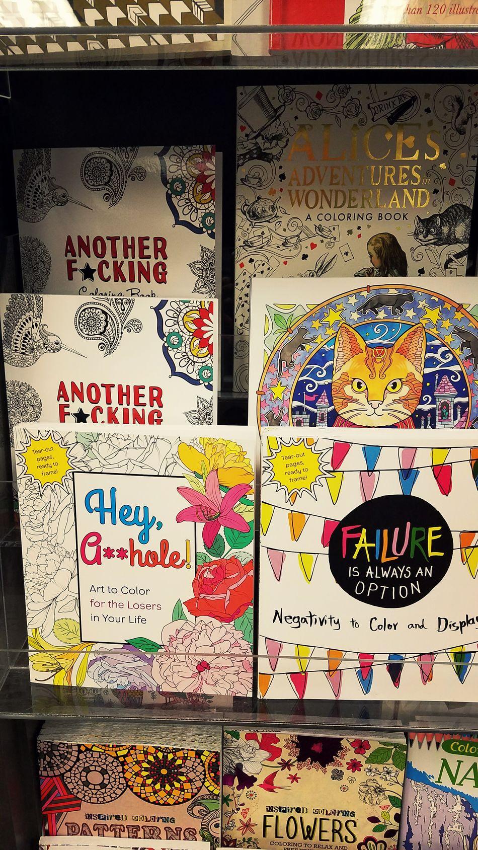 Adult Coloring 1 Coloring Color Coloring Book Coloringbook Adultcoloring Adultcoloringbook Bookstore Funny Cat Another Books Variety Cuss  Curse  Alice In Wonderland Alice Aliceinwonderland Failure  Fail Failure Is Always An Option