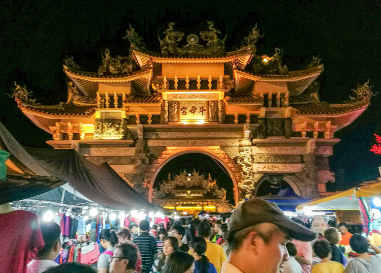 Chinese temple in Malaysia Night Large Group Of People Crowd Architecture Asian Temple Asian