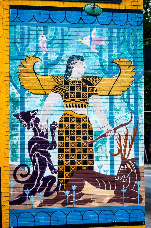 Richmond, VA USA Street Art Ancient Egyptian Black Panther Elvira  Multi Colored Richmond, VA Stagg Street Art Street Art/Graffiti Street Artist VCU VCU Artists