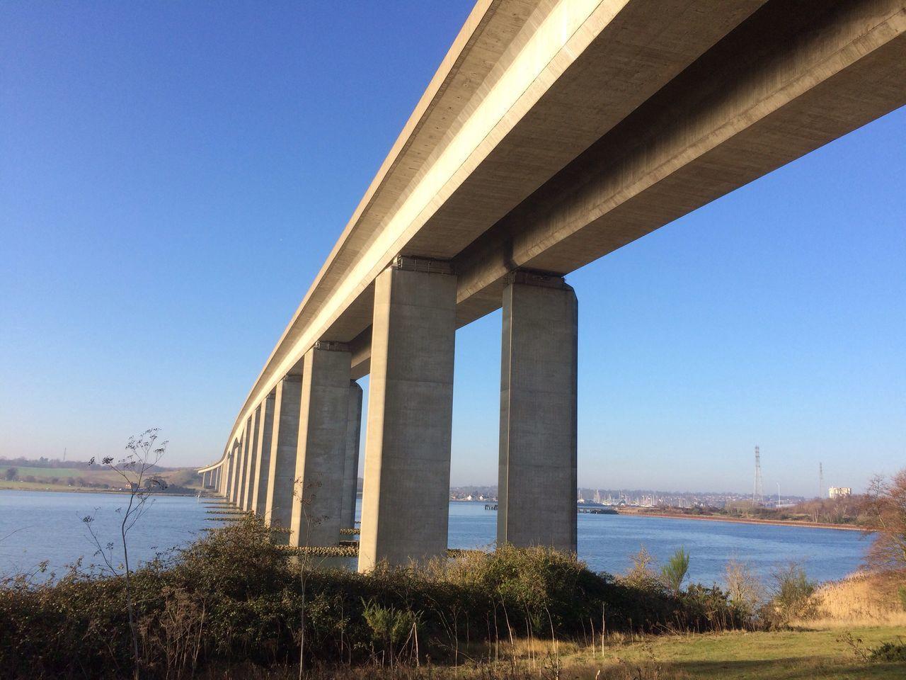 Concrete Bridge over the river
