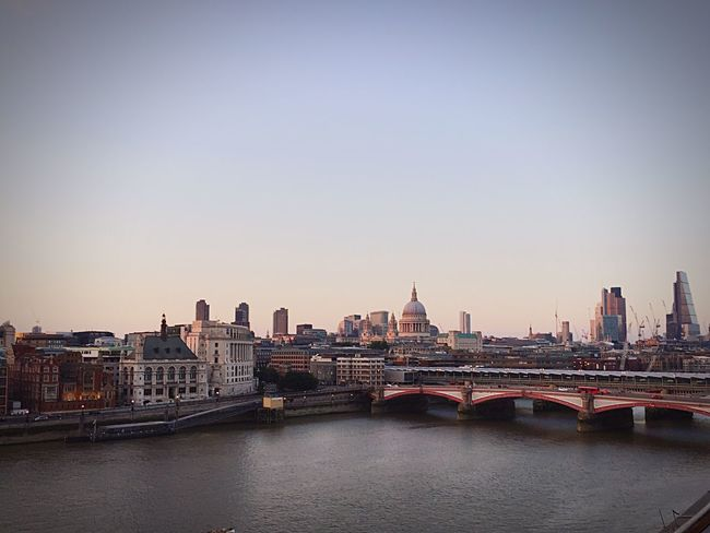 London London Lifestyle St Paul's Cathedral London Streets Themse Rooftop Rooftop View  Rooftop Bar High Life Architecture Building Exterior City Built Structure River Water Cityscape No People Outdoors Bridge - Man Made Structure Sky Day New Talents