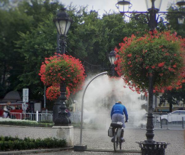 Bratislava, Slovakia bicycling cooling device