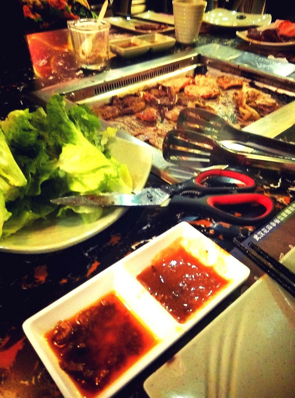 武汉Wuhan 中南金谷一自助烤肉 口口是肉
