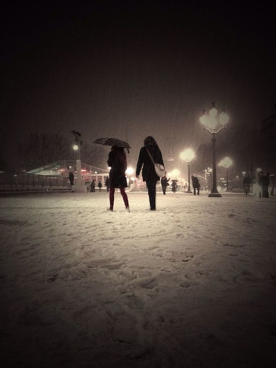 snow in Paris by Kaa_75