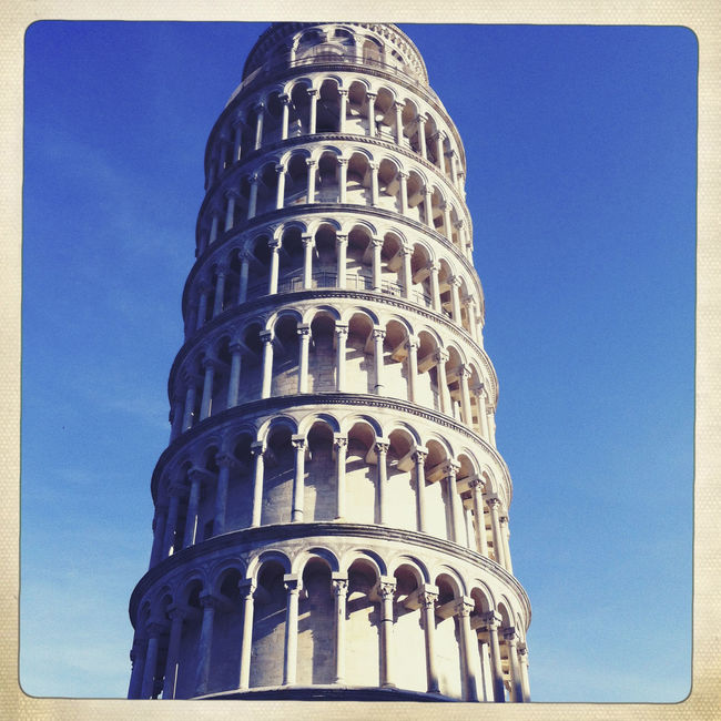 Leaning Tower of Pisa, Italy. Architectural Column Architectural Feature Architecture Blue Building Exterior Built Structure Capital Cities  Culture Day Famous Place History International Landmark Italy Leaning Tower Of Pisa Low Angle View No People Outdoors Pisa Sky Tall Tall - High Tourism Tourist Attraction  Tower Travel Destinations