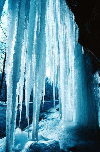 The icycles curtain Winter Snow Blue Beauty In Nature Ice Scenics Travel Destinations natural cold storm January First Eyeem Photo