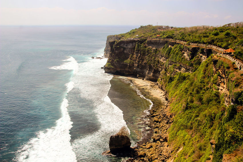 Bali Beach Beauty In Nature Cliff Day EyeEmNewHere Horizon Over Water INDONESIA Nature No People Outdoors Rock - Object Rock Formation Scenics Sea Sky The Great Outdoors - 2017 EyeEm Awards Tourism Tranquil Scene Tranquility Travel Destinations Water Wave Lost In The Landscape