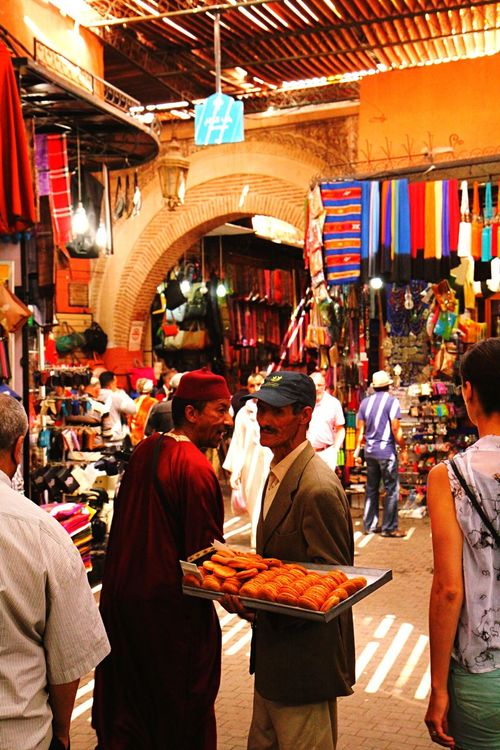 Marrakech Marrakech Morocco La Medina De Marrakech Market Souk Marketstreet Old Market People Antiques Antique