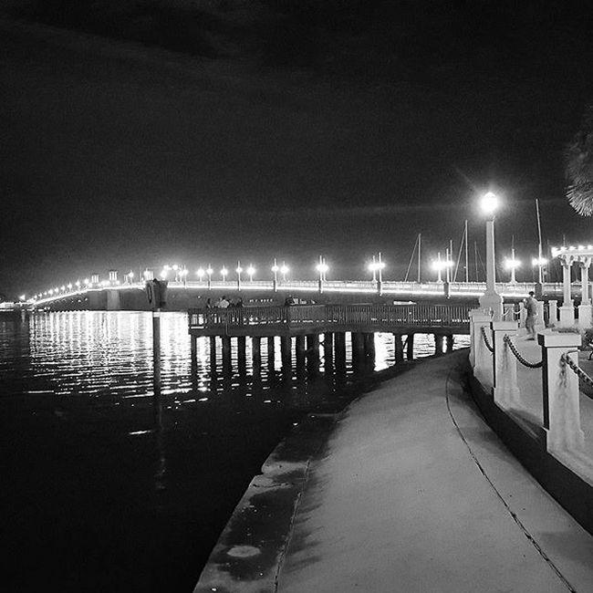 Christmas night at the bridge Photographylovers Photographyislife Bridge Bridge Of Lions St. Augustine, FL