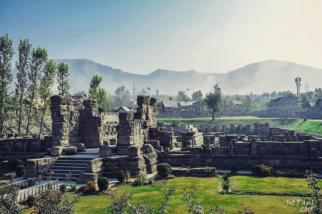Awantipura Ruins, Mountain Grass Mountain Range Travel Destinations Clear Sky Scenics Awantipora Ruins Awantipora Temples JammuandKashmir India