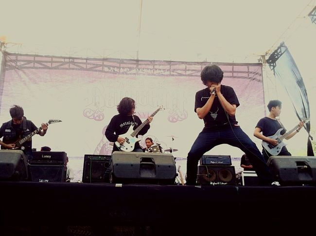 On stage my band Deathforrevenge