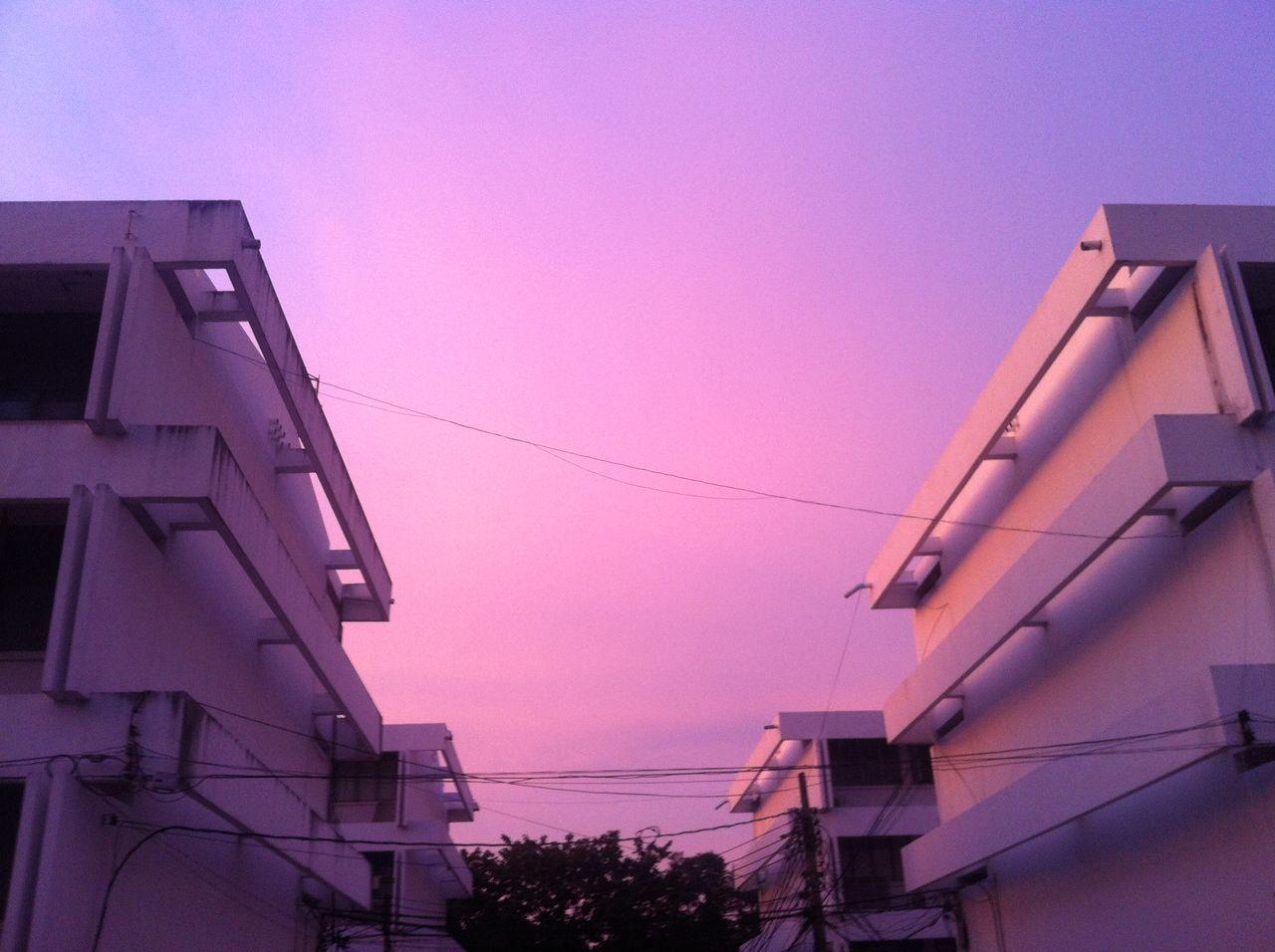 Pink Sky Purple Sky Evening Sky Sky Collection Thailand Bangkok September 2015 No Filter
