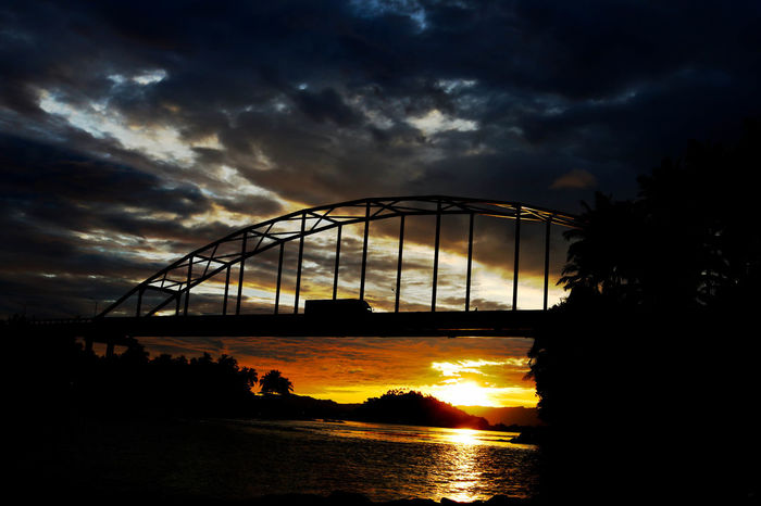 Wawa bridge during sunset Sunset Sunset Silhouettes Sunset And Clouds  Sunset And Bridge Bridge Bridge View Bridge With Sunset Silhouette Canonphotography Canon Eyeem Philippines From My Point Of View Fresh On Market August 2016