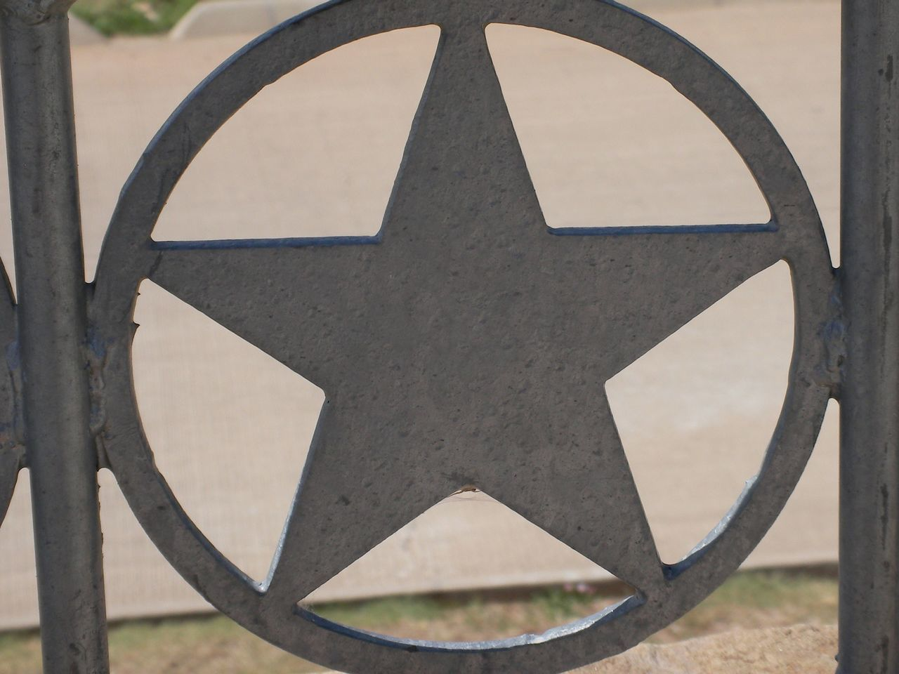 Architecture Blurry Close Up Close-up Day Freedom Ground Highway Metal Metallic Nature No People Object Outdoors Railing Rest Stop Silver  Skyline Star Texas United States United States Of America USA USA Photos USAtrip
