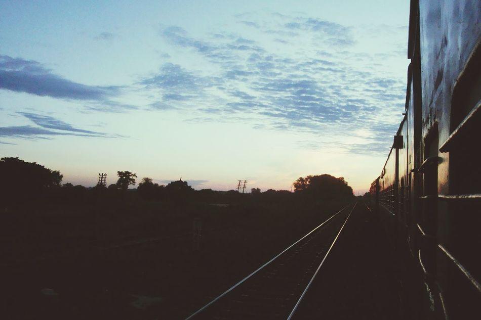 Nightjourneys Train Travelling Dawn Sunrise Railline Shadows & Lights Travelpics Earlymorningclick