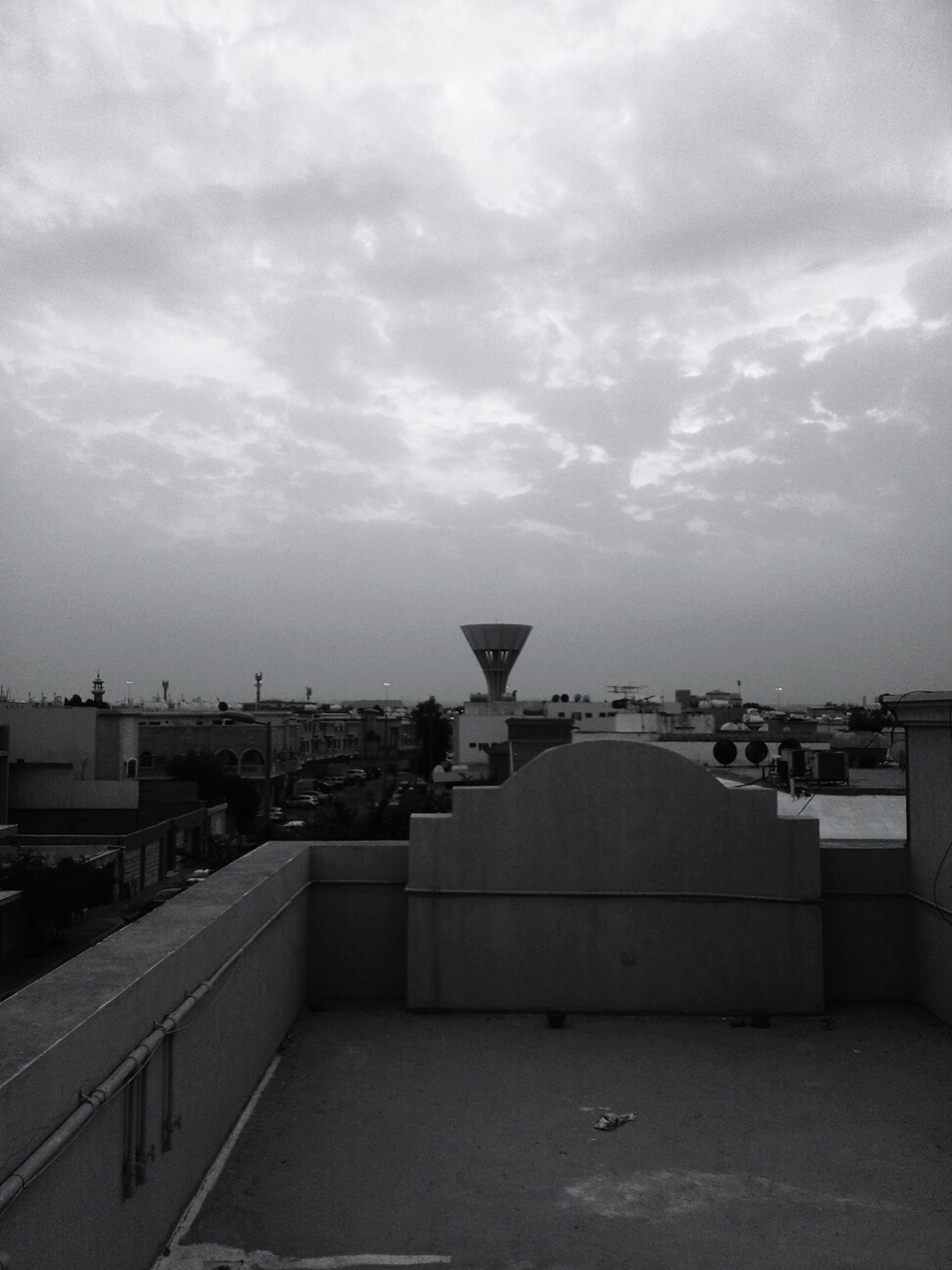 architecture, built structure, building exterior, sky, no people, outdoors, building terrace, day