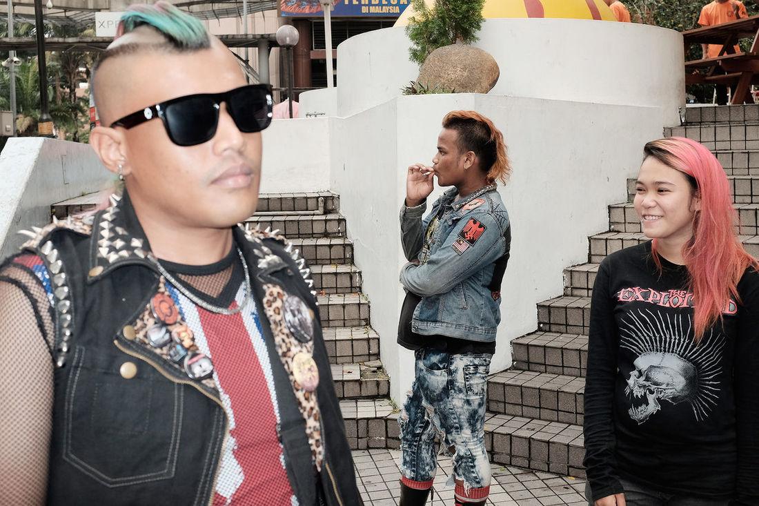 Up Close Street Photography Punk Style Punksnotdead Mohawk Streetmalaysia Culture Fashion Rebelpunk