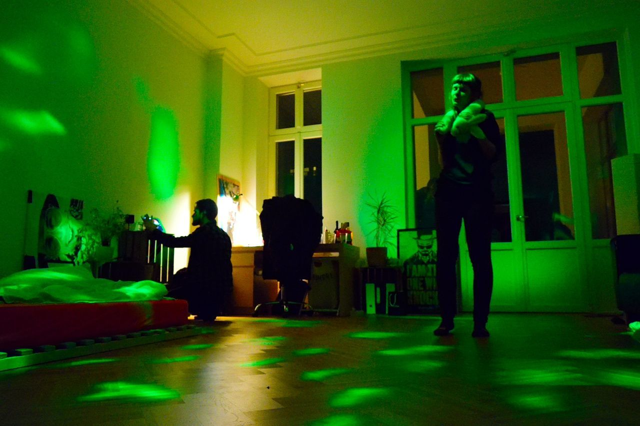 Adult Adults Only Dance Full Length Green Color House Party Indoors  Men Night Only Men Party People Real People