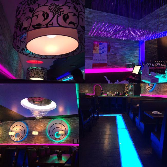 Sashimi Fusion - Birthday Dinner. Restaurant Interior Design Neon Lights EyeEm Best Shots Eye4photography