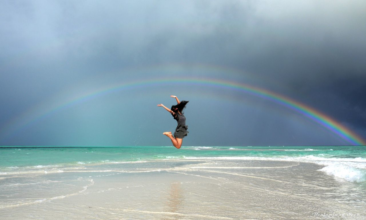 Beautiful stock photos of rainbow, Arch, Beach, Beauty In Nature, Cloud