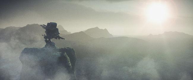 Majestic Cinematic Majestic Mountain Mountain Range No People Robot Sci-fi Science Fiction Sun Sunbeam Sunlight