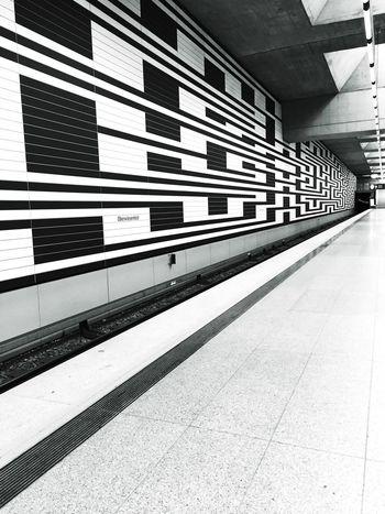 Munich subway station Transportation Railroad Station Platform Railroad Station Rail Transportation Day No People Outdoors Public Transportation Architecture München Munich