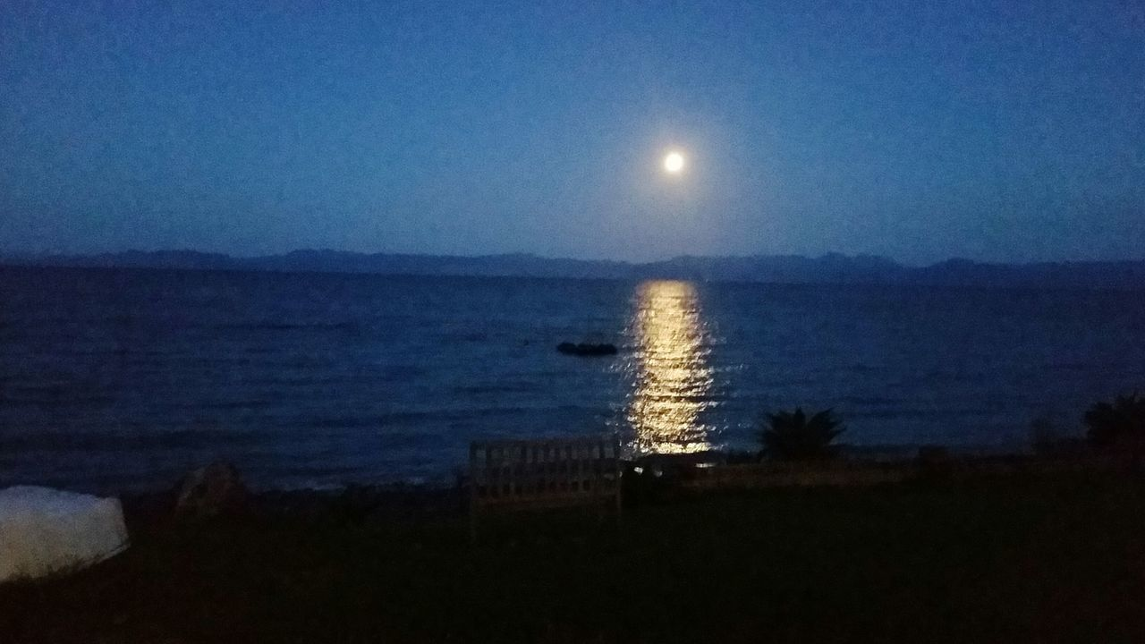 Moon shining over the bay Sea Blue Nature Sky Water Beauty In Nature Scenics Silhouette Night Horizon Over Water Astronomy Distant Outdoors Clear Sky Moon No People Constellation Star - Space Bad Manors Ltd Kaiaua NZ Travel Destinations Beautiful Nature Beachtime Leisure Activity Beauty In Nature Landscapes