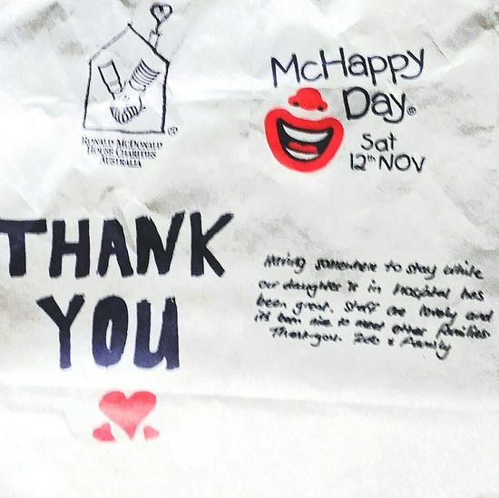 Thank You McDonald's I'm Lovin' It Signs I'm Lovin' It ® The Face Of McDonald's Signage Ronaldmcdonaldhouse Mcdonalds The Golden Arches McCafe Maccas I'm Loving It Mickey D's Taking Pictures Ronald McDonald House Notices Charity Event Ronnie Mc Donald McDonald's Signs Ronnie McDonald RonnieMcDonald RonaldMcDonald Thankyou Thanks