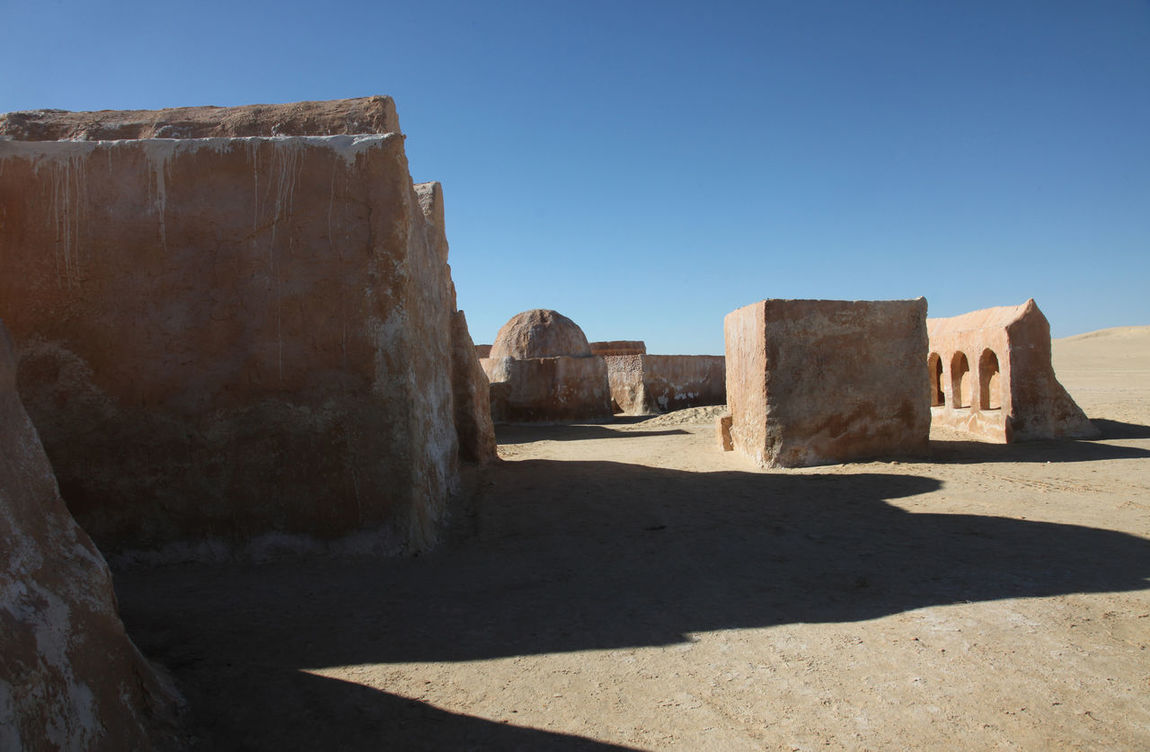 Abandoned decorations for shooting Star Wars movie, Sahara Desert, Tunisia Abandoned Africa Architecture Building Cult Decorations Desert Film Lucas MOVIE Rocket Sahara Sand Shooting Space Star Star Wars Technical Tourism Tunisia War Wilderness
