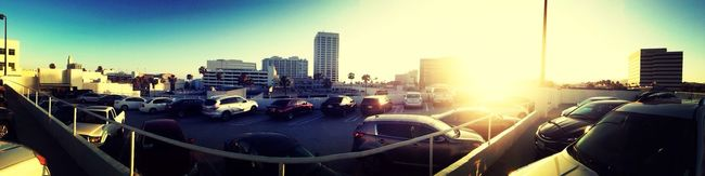 Beautiful sunset panorama in Santa Monica...