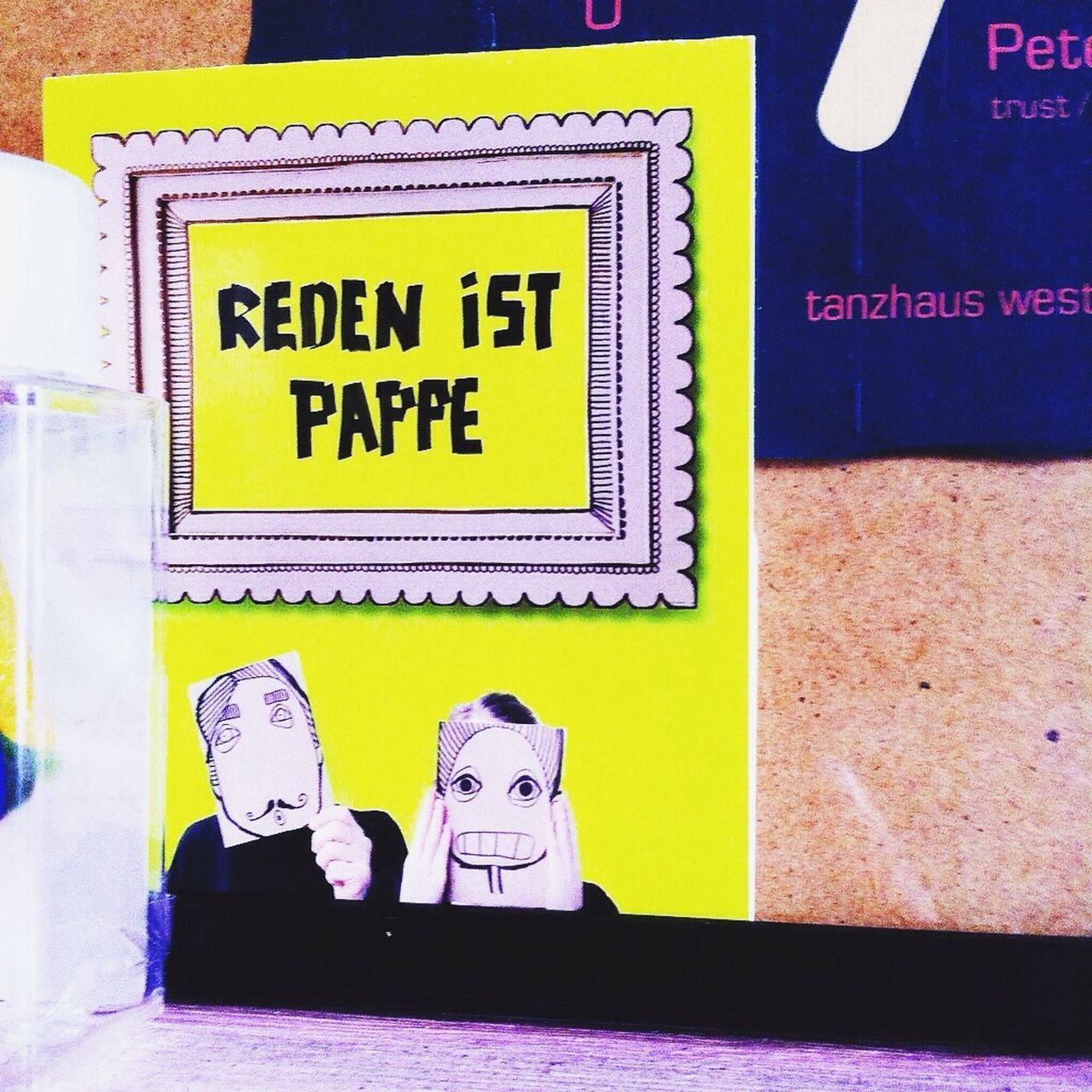 Collected Community Visual Statements Postcard Reden Ist Silber - Schweigen Ist Gold Pappe In The Kitchen Zeitverschwendung Man And Woman are vom Leichtsinn und Überraschung s Effekt geplagt