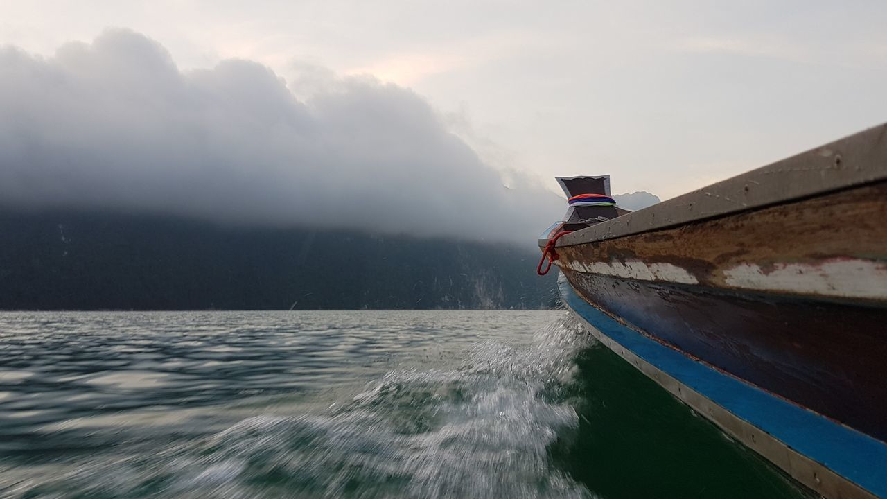 Sailing Background Boat Dam Fog Long Tail Boat Long Tailed Mountain Nature Outdoors Ratchaprapa Ratchaprapa Dam Ratchaprapadam Sail Sailing Screen Sky Speed Speed Boat Transport Travel Water EyeEmNewHere