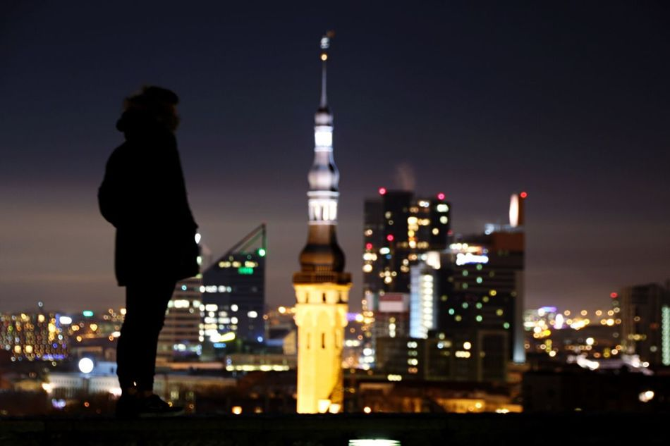 Old town in Tallinn, Estonia. Night Urban Skyline City Cityscape City Life Travel Destinations Sky Architecture Building Exterior Outdoors One Person One Man Only Wonderland Inspiration Somethingnew Nophotoshop Buildings Tallinn Photographer Deep Modelling Prettylights Winter Citylights