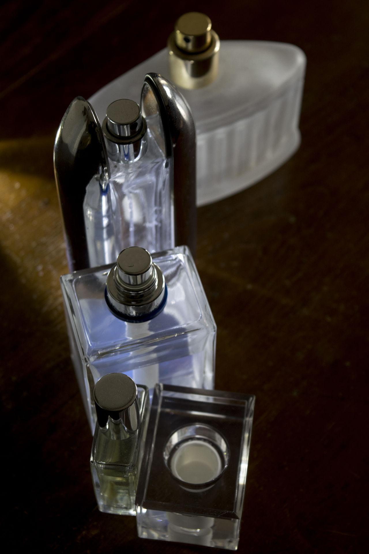 glass bottles of perfume with unusual light Appeal Beauty Bottle Charm Feminine  Feminity Glass Make Up Perfume