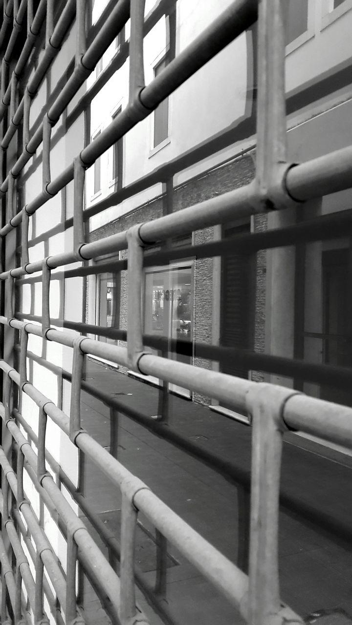 railing, metal, train - vehicle, transportation, public transportation, no people, indoors, day, architecture, subway train, close-up