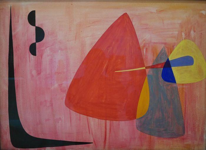 Calder au Musee Soulages Rodez - Painted Image Paint Multi Colored Creativity Abstract Paint Arts Culture And Entertainment Abstrait Art Color Abstractart Rodez Painting Art Modernart Exposition Aveyron Painting Colors Gouache Museum Gouache Painting