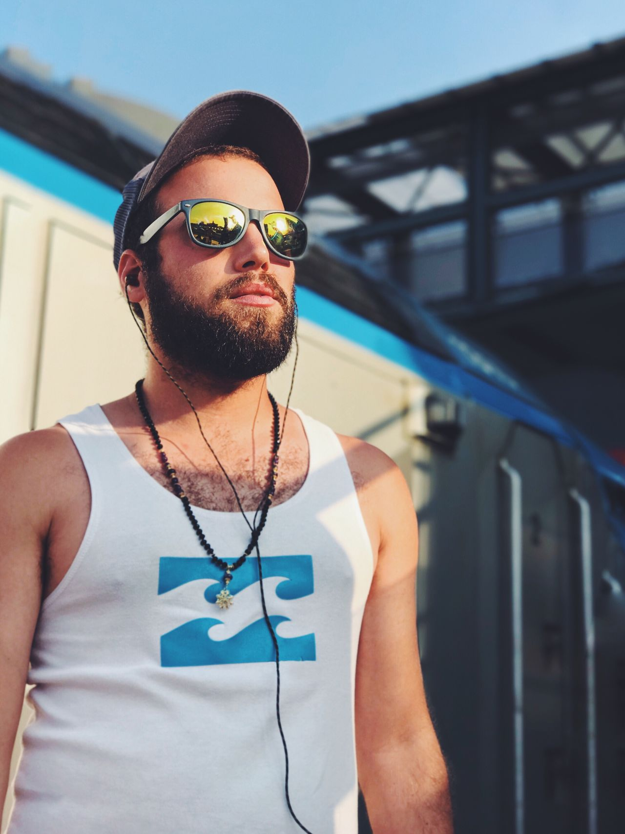 Sunglasses Real People Beard Front View Young Adult One Person Young Men Lifestyles Day Eyeglasses  Outdoors Close-up IPhone7Plus מייאייפון7 Shotoniphone7plus Mydtrainmoments Mytrainmoments