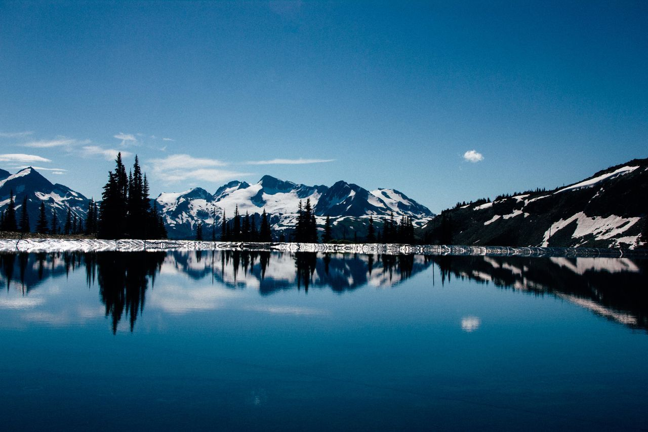 Nature day Reflection Water Night Outdoors Lake Sky Blue Mountain Nature No People