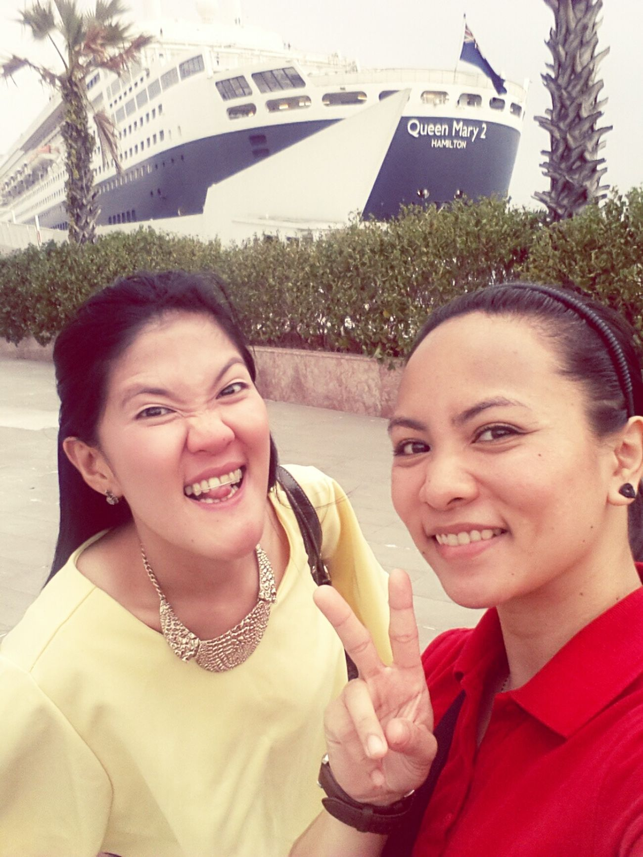 Visited Bebang at Queen Mary 2! with Ara! Amazeballs! ?