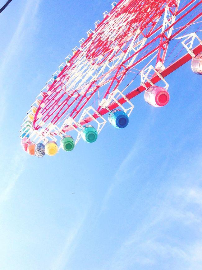 Japan Odiba Ferris Wheel Amusementpark Sky
