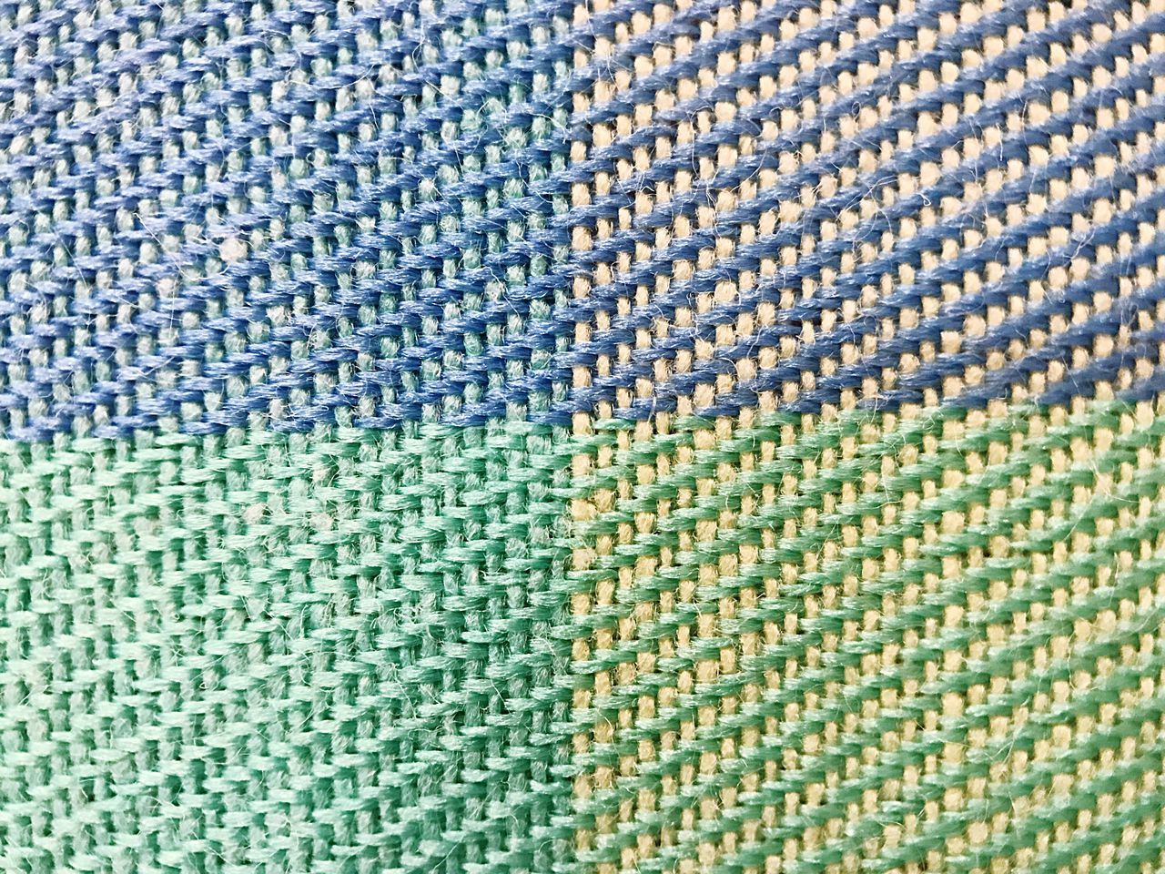 Textile Pattern Backgrounds Full Frame Close-up Textured  Blue Woven Cotton Green Color Multi Colored Tablecloth Fabric No People Abstract Indoors  Cloth Day