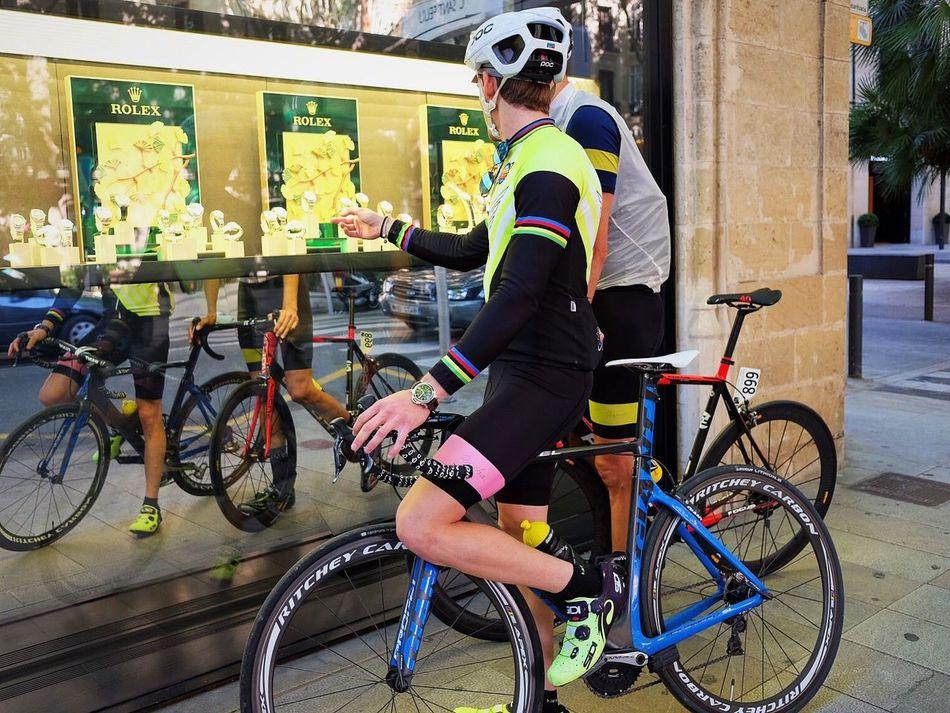 Rolex Bycicle Bike Team #retro Toys For The Boys Luxury Luxurylifestyle  SPAIN Mallorca Palma Palma De Mallorca Fujifilm_xseries Fujifilm Shaved Legs Watch