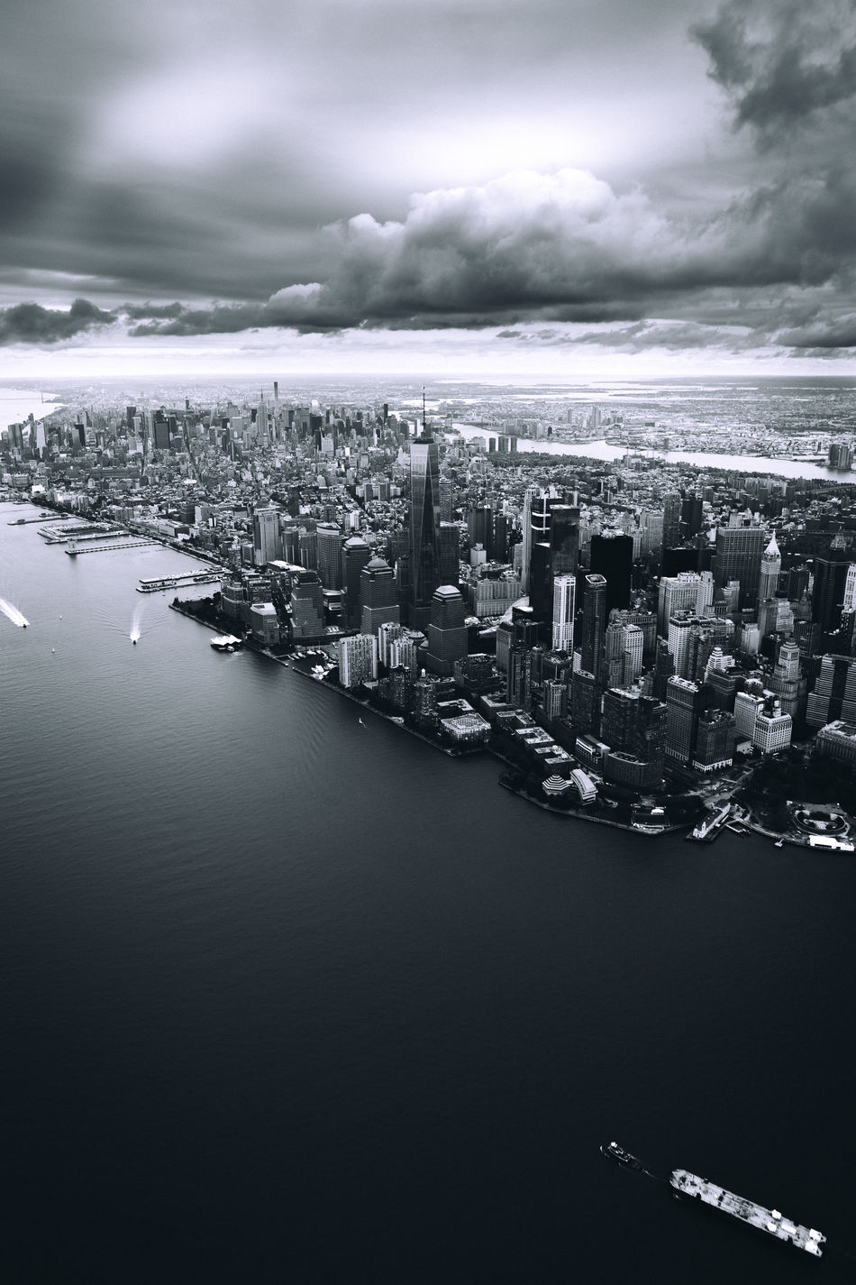 Manhattan Aerial View Architecture Black And White Blackandwhite Building Exterior Check This Out City City City Life Cityscape Cloud Downtown District Exploring EyeEm EyeEm Best Shots Modern Monochrome New York New York City Sky Skyscraper Taking Photos Urban Skyline Water Waterfront