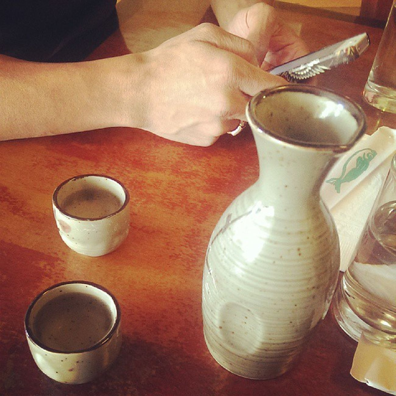 Sake with @pogiberry
