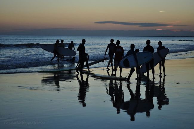 Surfers ... Sunset Silhouettes Sunset Beach Beachphotography Beach Photography Surfing Surfer