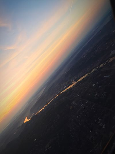 Sunrise is so much prettier from the sky.