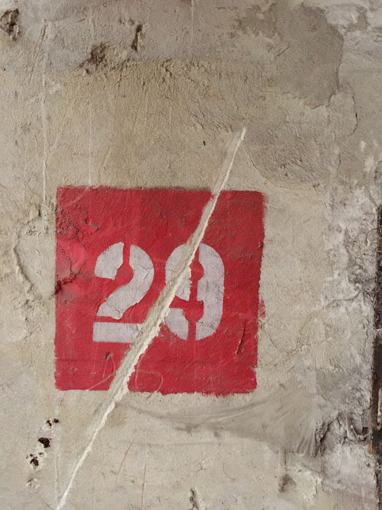 Nofilter Number 29 White Wall Dirty Old Industrial Sign Red
