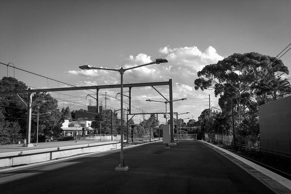 Transportation Shadows & Lights Outdoors Monochrome Cloud - Sky